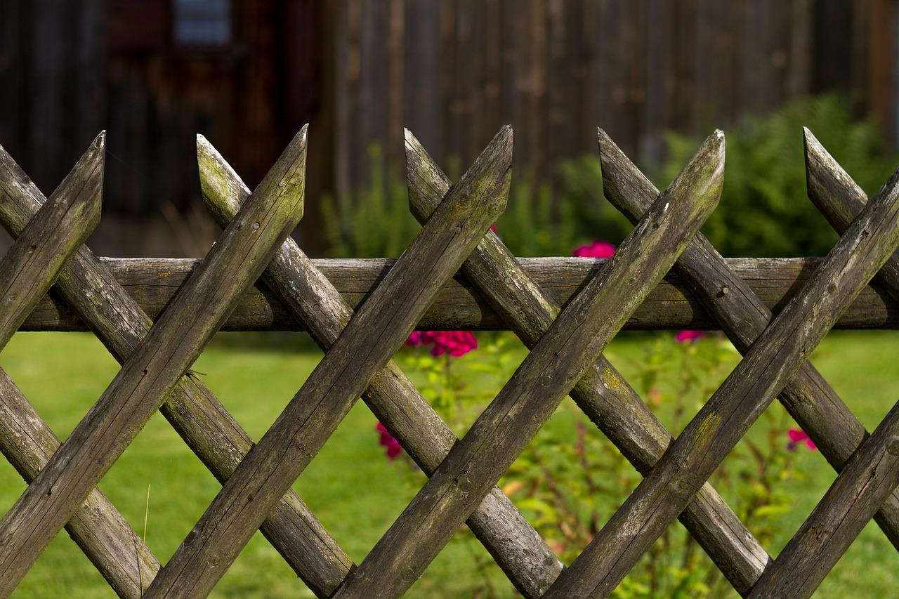 Gartenzaun aus einem Rankgitter bauen